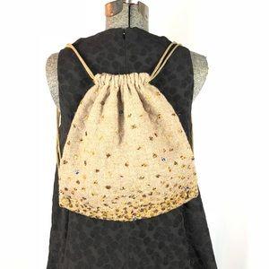 Soie Small Beaded Drawstring Bag